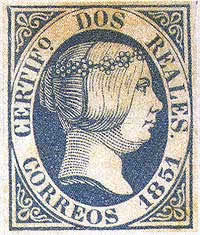 Σπανιότατο ισπανικό γραμματόσημο