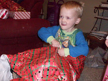 Jack tearing open a present.