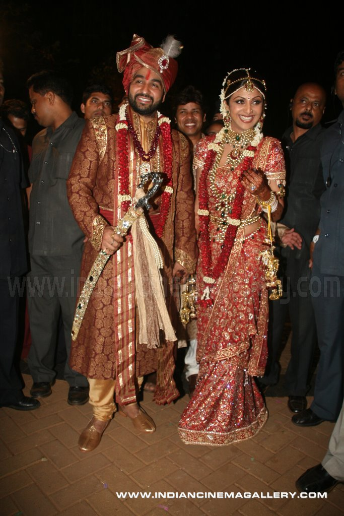 Indian Cinema Gallery Shilpa Shetty Wedding Reception