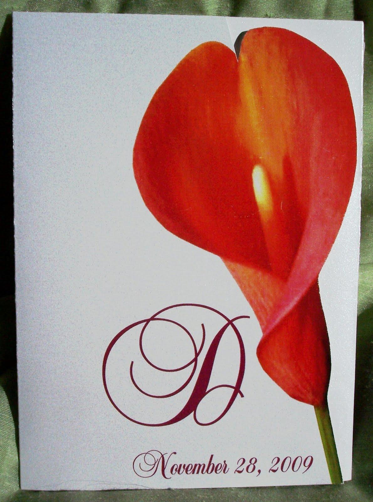Designs by Ginny: Stricking Mango Calla Lily Invitation