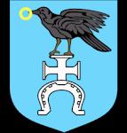 ŚLEPOWRON  (también KORWIN) en el escudo de la ciudad de Ruda-Huta, Lublin