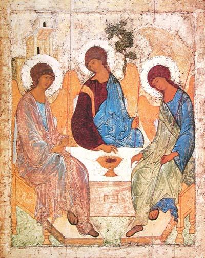 Пресвятая Троица. Бог-Отец, Бог-Сын, Бог-Святой Дух (икона Андрея Рублёва)
