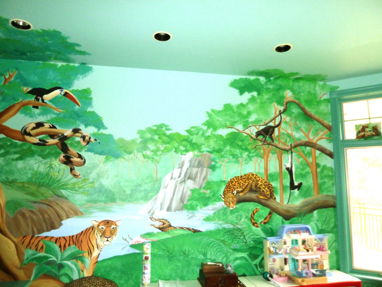 Simcoe street the jungle play room for Jungle themed playroom