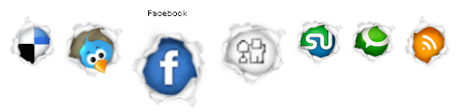 jQuery MouseOver Social Bookmark Icon