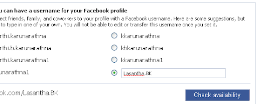 Get Your Own Facebook Domain-Username