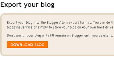 How To Backup Your Blogger Posts