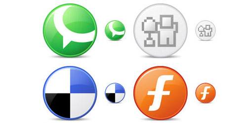 circle social bookmark icon