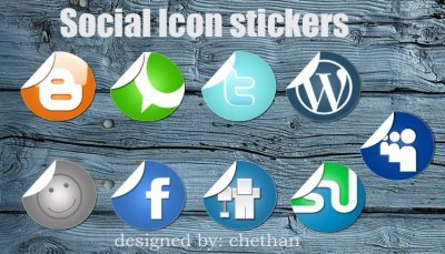 Social Icon stickers