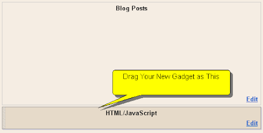 Gadget under Blog Posts Section.