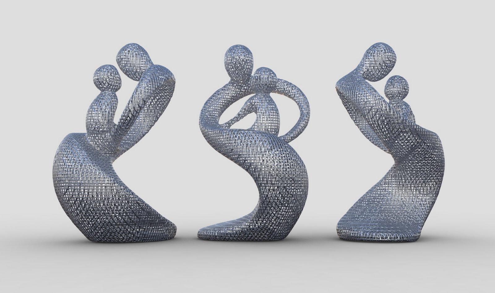 3d Laser Scanning: 3d Sculpture - Lattice Modifier - Render