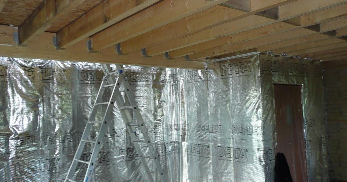 notre maison en bois pose du pare vapeur sur les murs du rez de chauss e. Black Bedroom Furniture Sets. Home Design Ideas