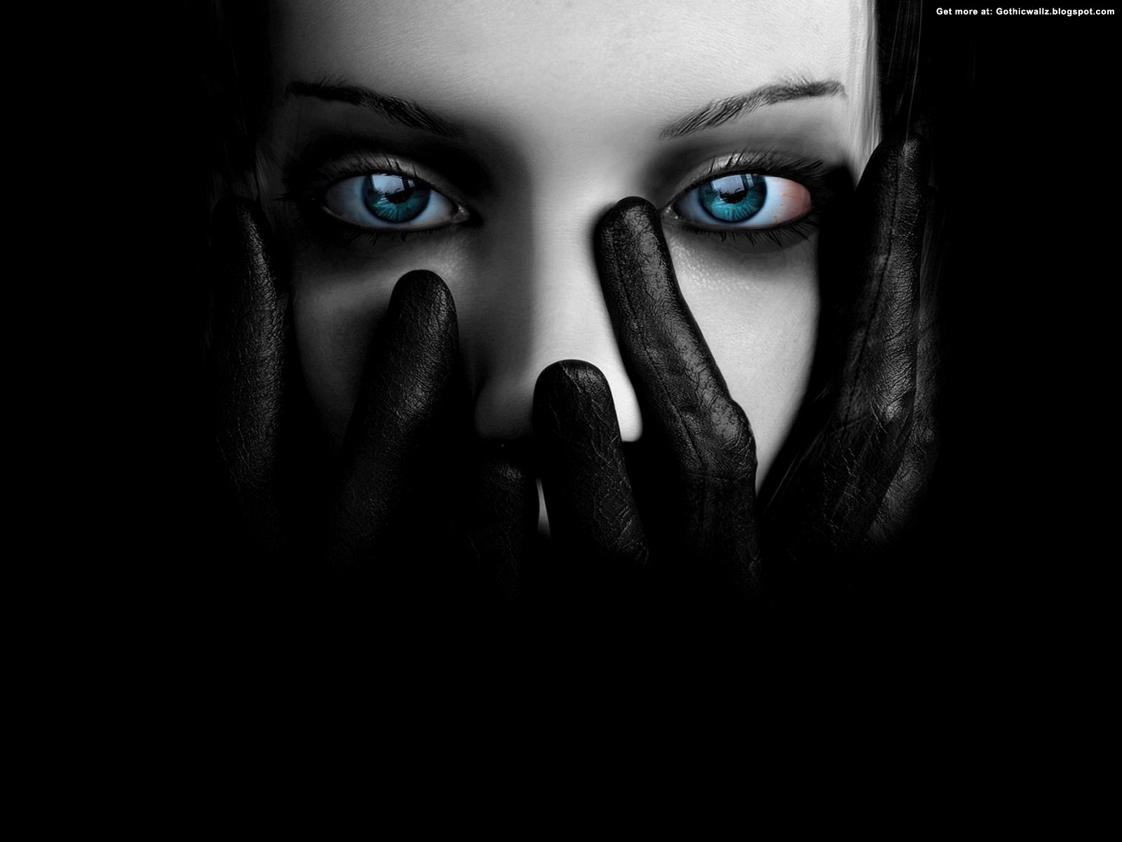 Dark Blue Eyed Girl Wallpaper