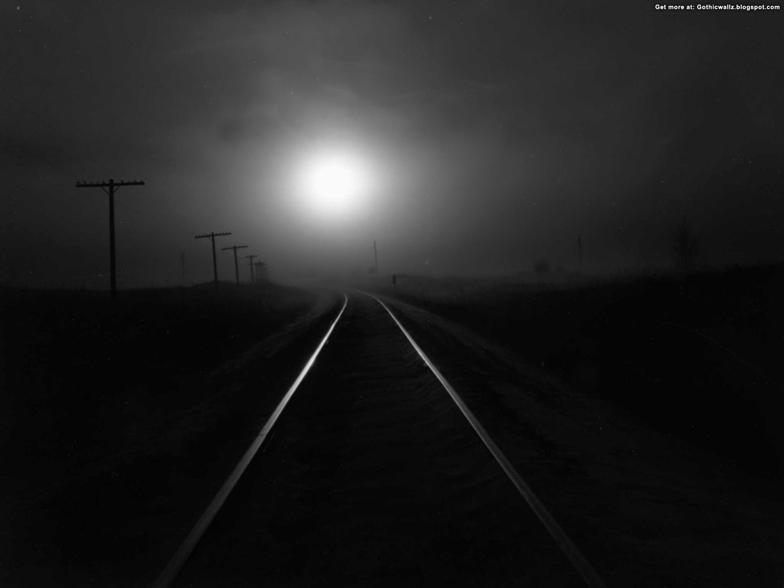 Dark Railway | Gothic Wallpaper Download