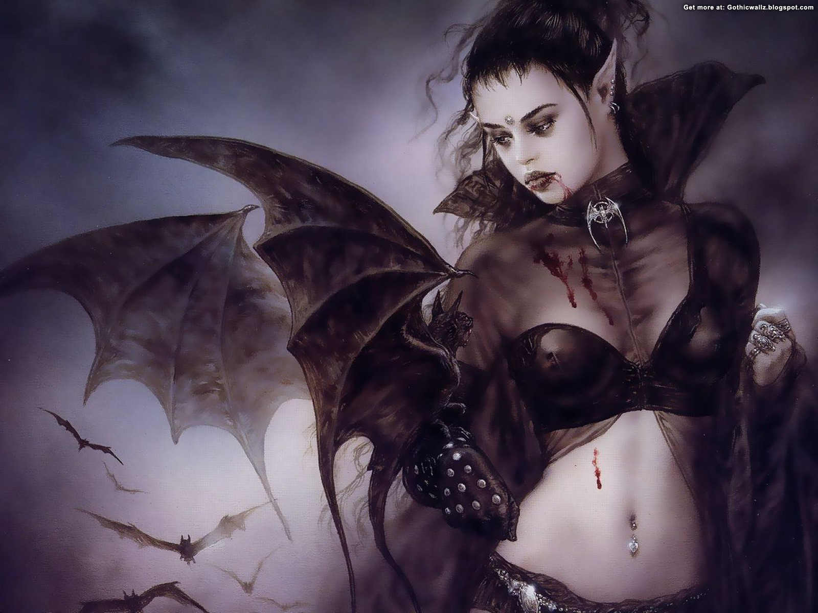 Vampire Girl | Gothic Wallpaper Download
