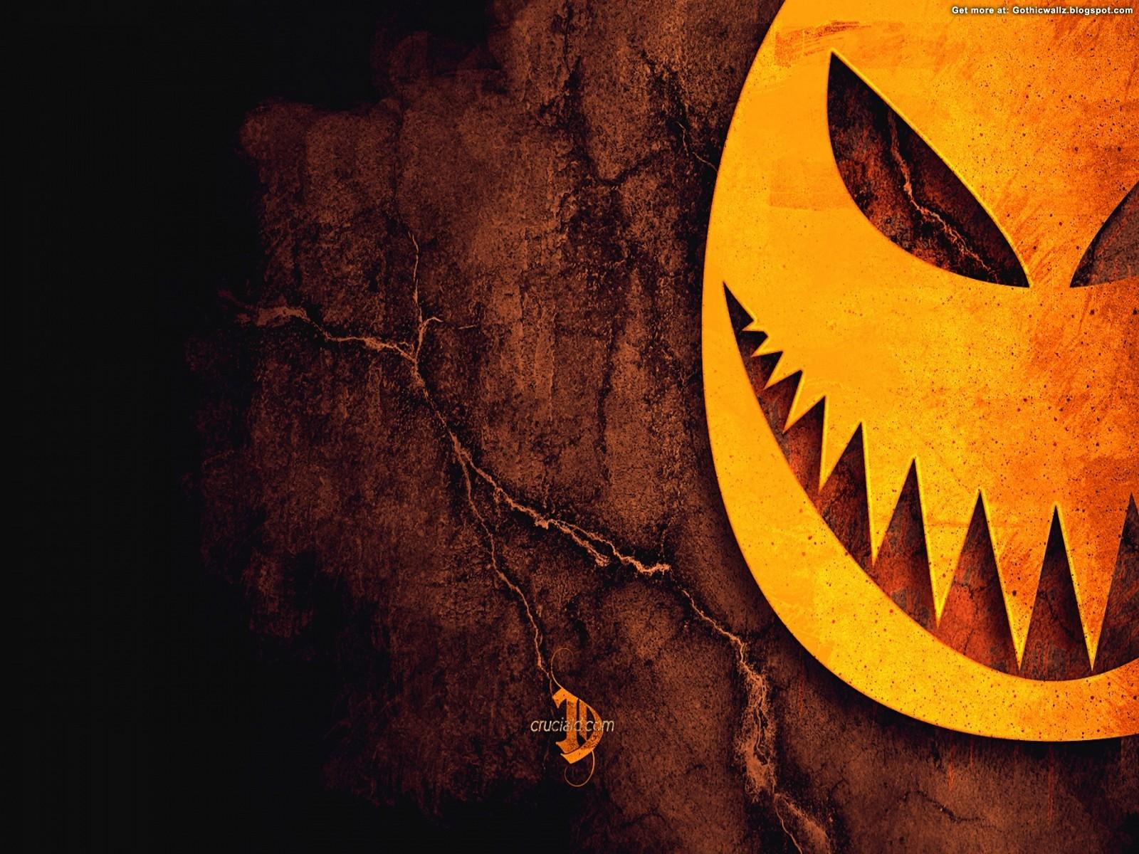 halloween pumpkin teeth | Gothic Wallpaper Download