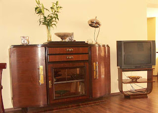 Art Deco Bauhaus French Art Deco Buffet Console Table 1930s