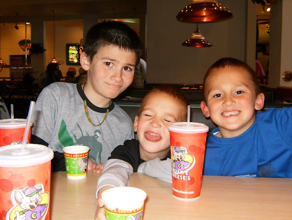 ~Marcel, Zander, and Anthony at Chucky Cheese~