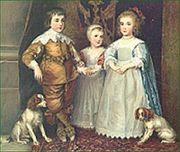 English Portrait of Children with Dogs