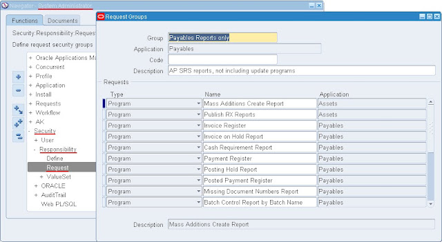 Oracle Applications Request Groups And Request Sets In Concurrent
