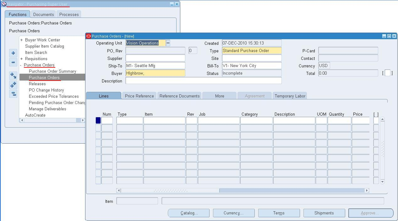 Oracle Applications: Setup User as a Worker to Access Purchase ...