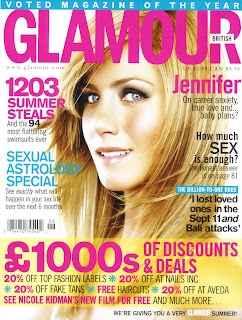 Jennifer Aniston in Glamour Magazine UK