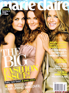 Jennifer Aniston, Drew Barrymore And Ginnifer Goodwin Pose Sexy On Marie Claire