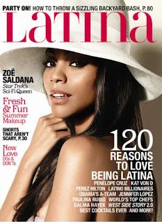 Zoe Saldana's Latina Cover