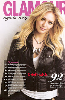 Hilary Duff Does Glamour Mexico Magazine