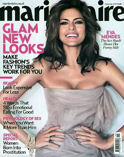 Eva Mendes - September 2009 Marie Claire UK Magazine