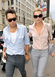 Kate Moss and Her Boyfriend Leaving L'Avenue Restaurant