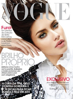 Adriana Lima on cover of Vogue, Brazil (February 2011)<br />