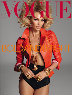 Candice Swanepoel on cover of Vogue Italia, February 2011 edition