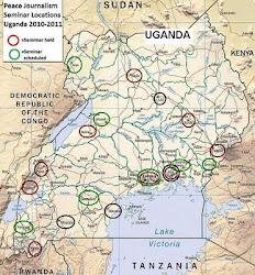 Uganda Peace/Electoral Journalism seminar locations