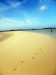 Our Foot Prints on a Sand Bar