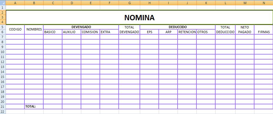 Subsidio al salario anual for Tabla de nomina