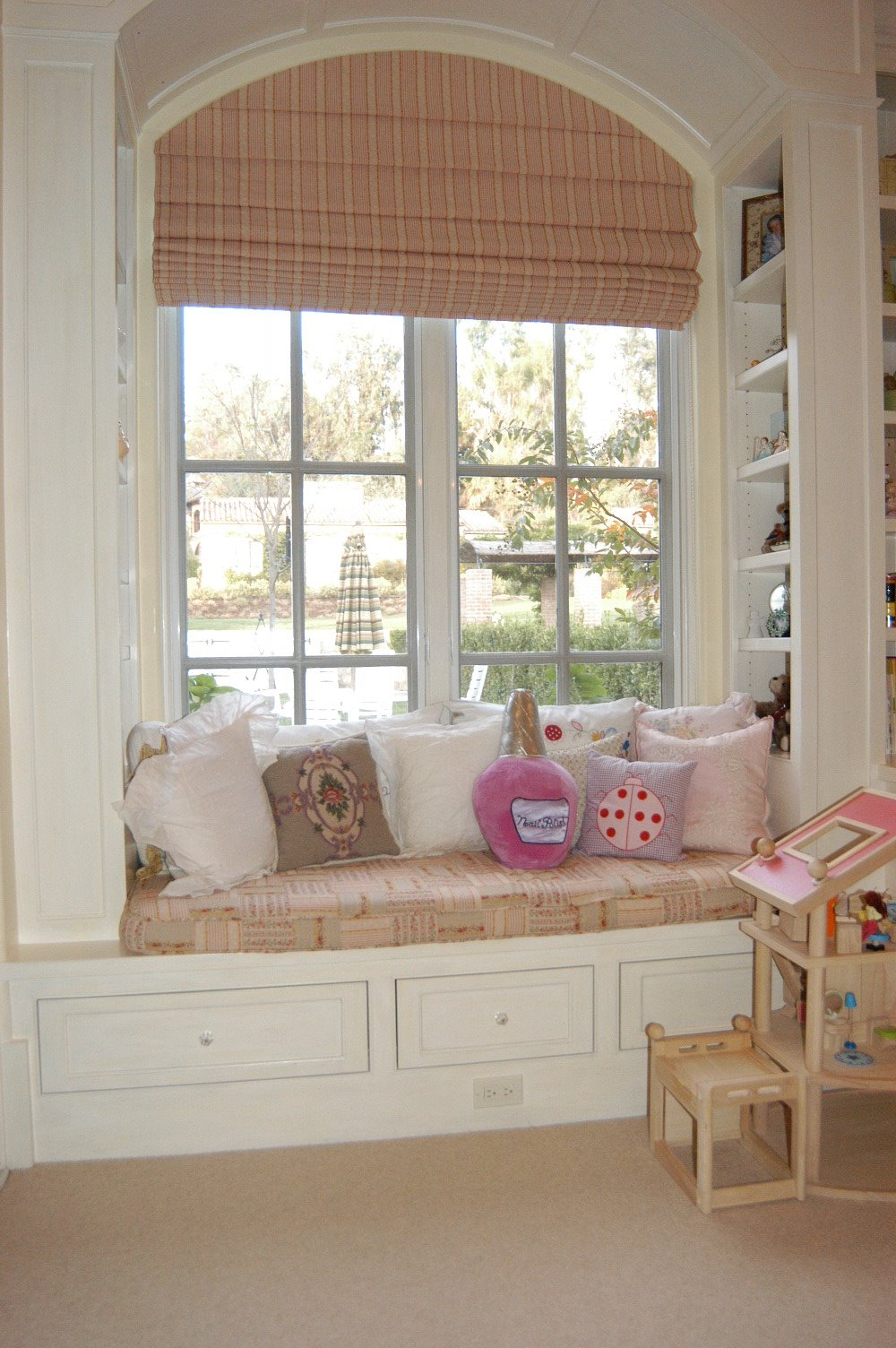 Custom roman shade for arched window curtain call for Roman shades for large windows