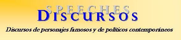 Discursos - Speeches