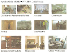 Applications of RENOVATIO Disinfectant