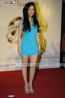 Riya Sen In little Blue Clothing Promote Agni Jewelry.