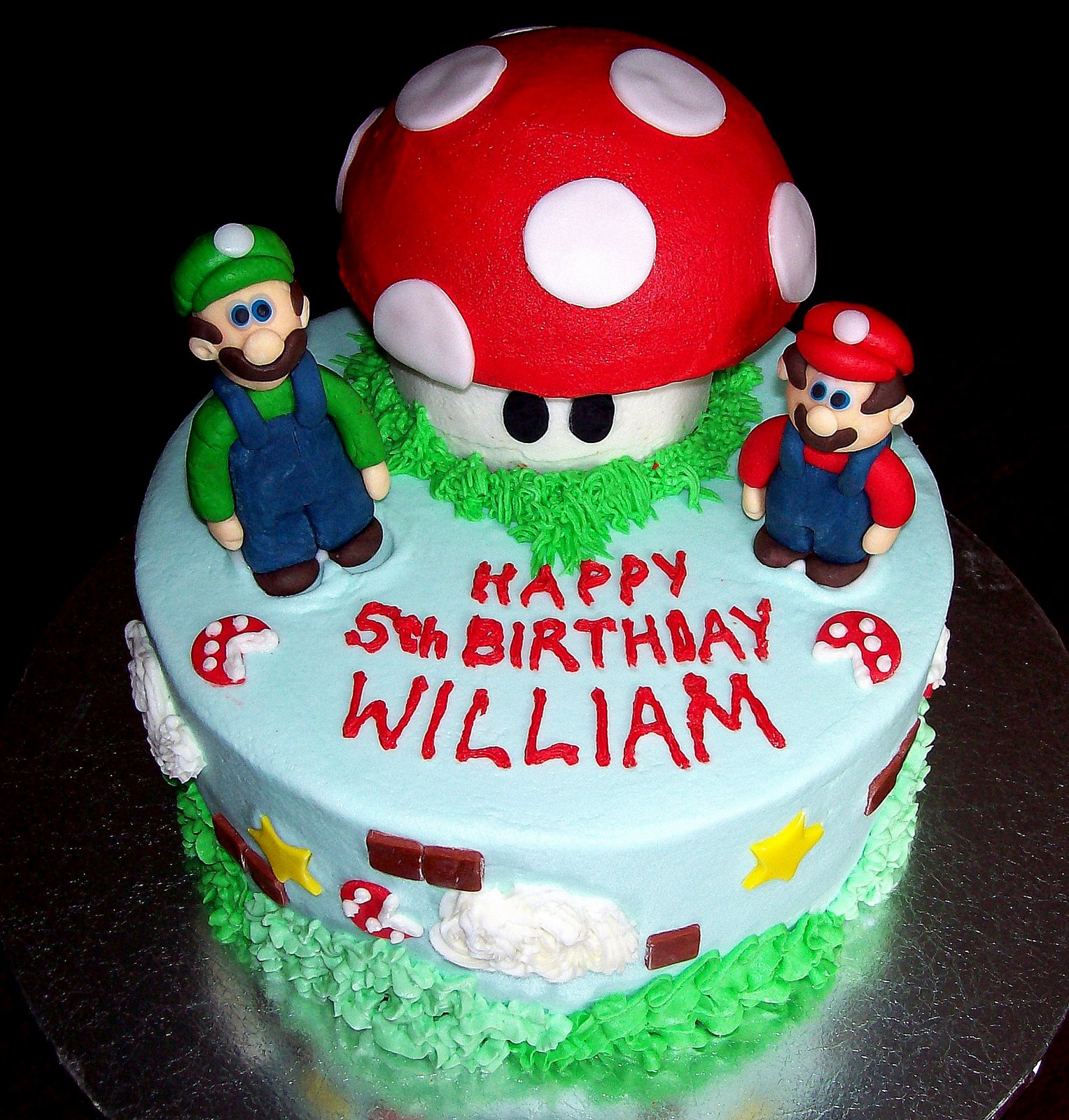 Cake Designs For Brother : Mario Bros Cake Ideas Buttercream 83025 Cakes Mario Brothers