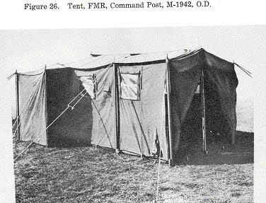 Original Photo of 1942 CP Tent & Armbruster Manufacturing Co. | Armbruster 1942 Command Post Tent