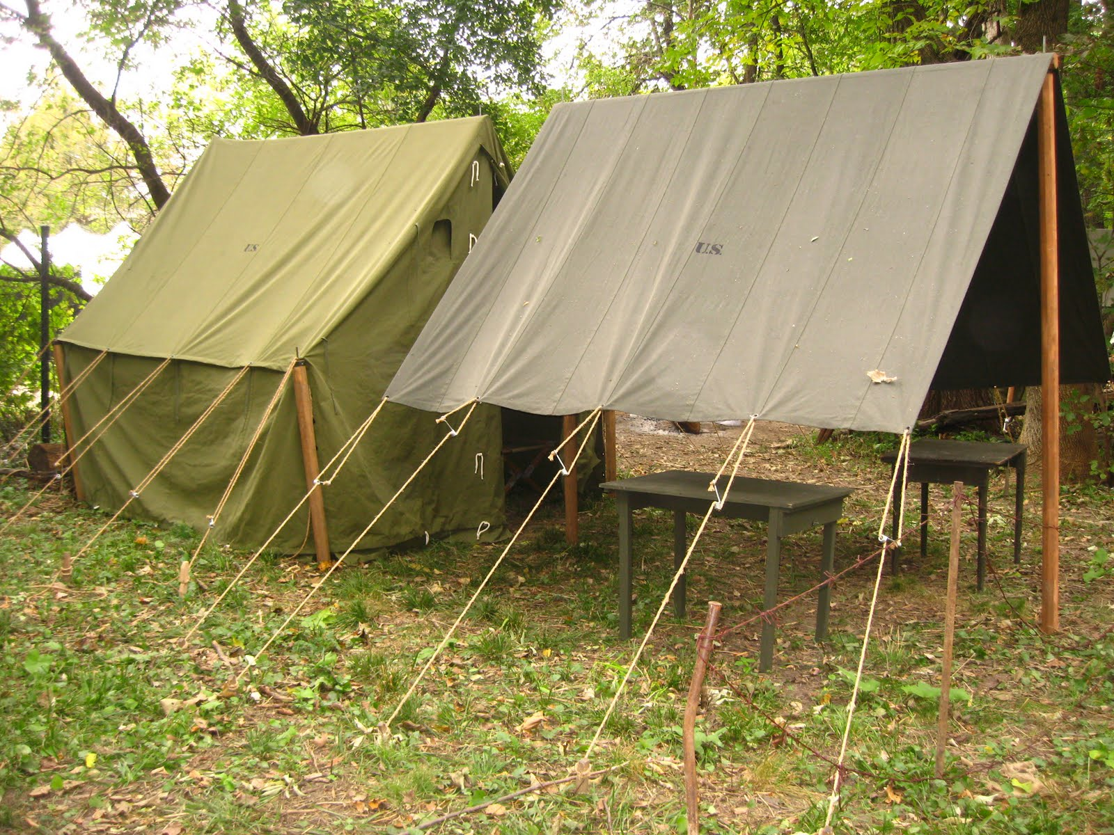 Armbruster Displays Wwii Tents At Rockford Wwii Days