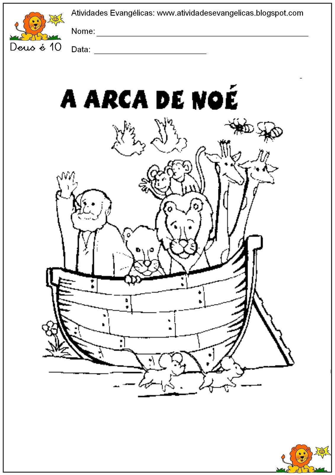 Populares Atividades Evangélicas: Atividades Arca de Noé FB47