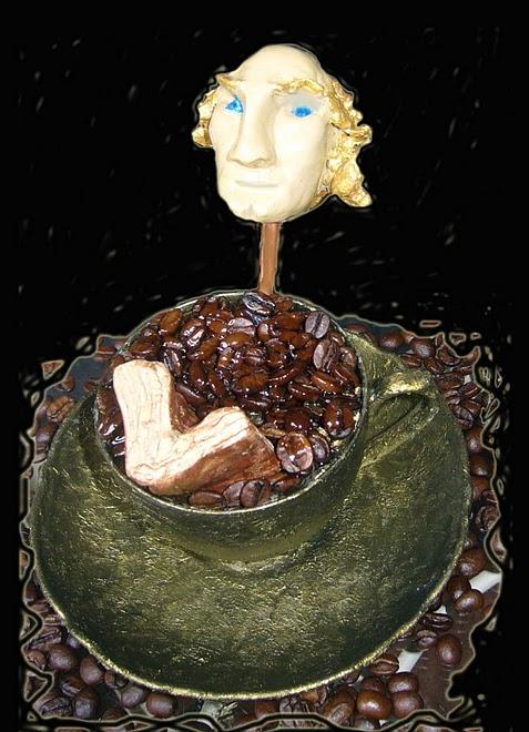 """""""Café Brasilero""""-Escultura para Eduardo Galeano"""