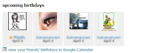 Orkut Birthdays in Google Calendar