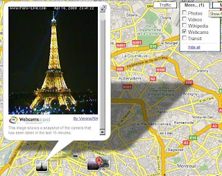 WebCam Layer in Google Maps
