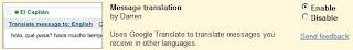 Gmail Message Translation