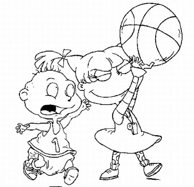 Rugrats Nickelodeon Coloring book sheet