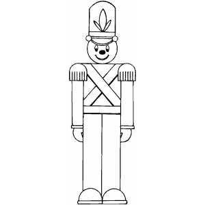 toy soldier coloring page