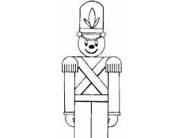Christmas Toy Soldier Coloring Pages